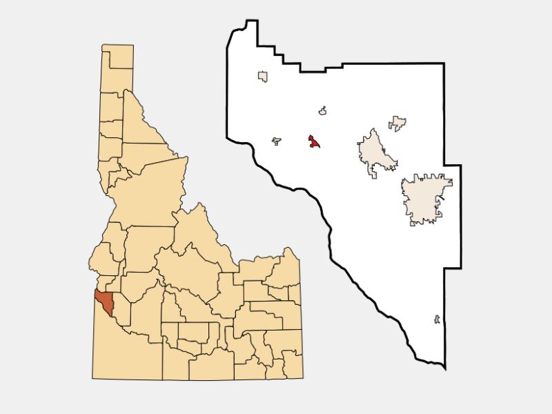 Greenleaf locator map