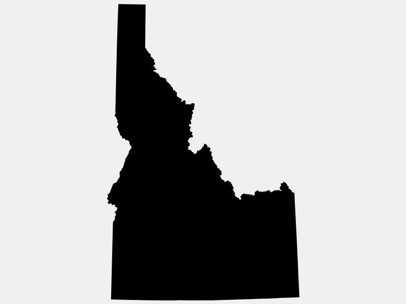 Idaho County locator map
