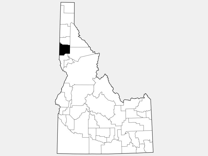 Latah County locator map
