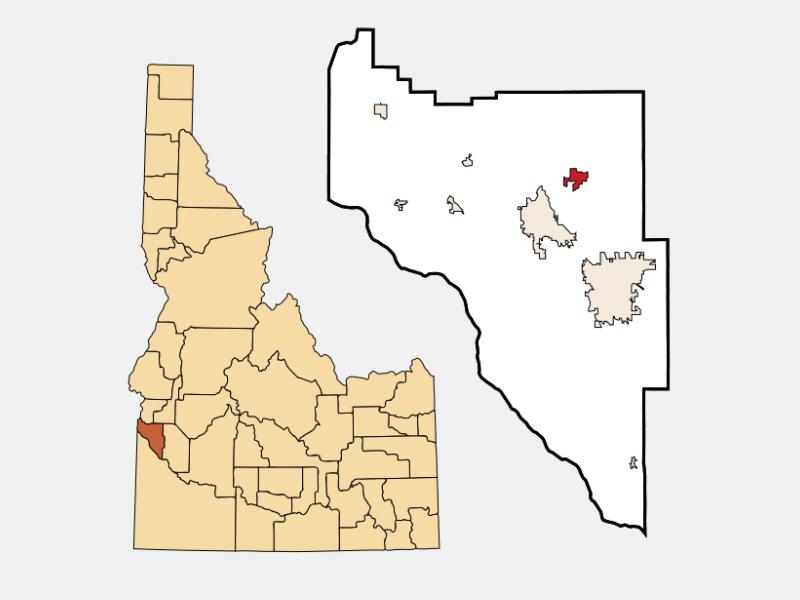 Middleton locator map