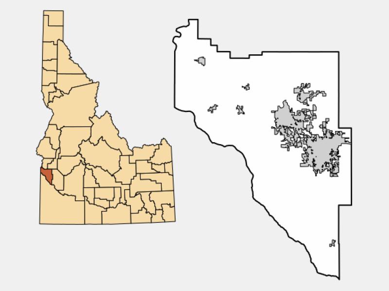 Nampa locator map