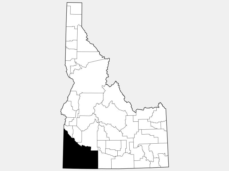 Owyhee County locator map