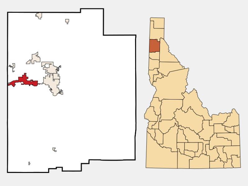 Post Falls locator map