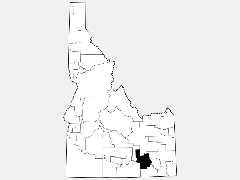 Power County locator map