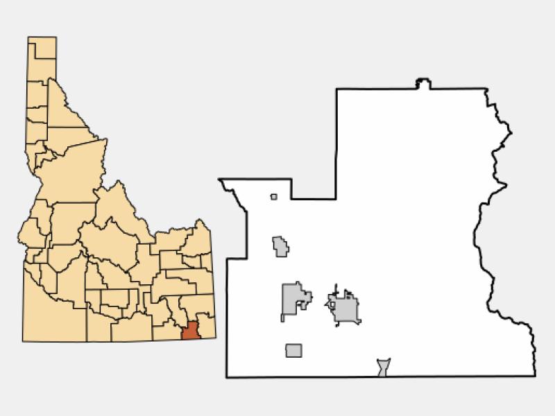 Preston locator map