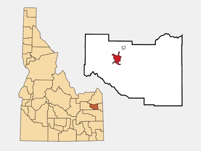 Rexburg locator map
