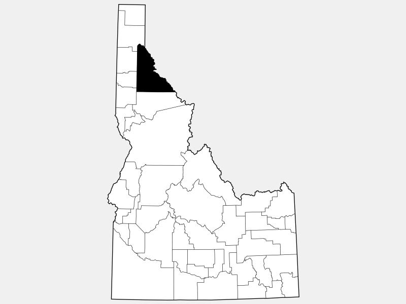 Shoshone County locator map