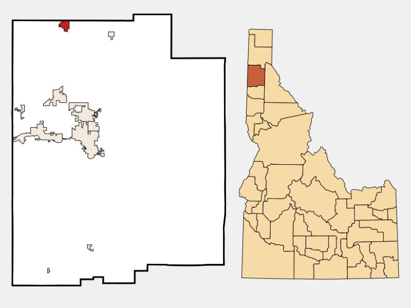 Spirit Lake locator map