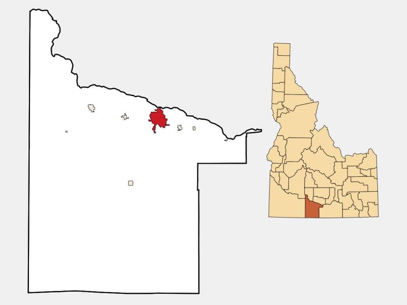 Twin Falls locator map