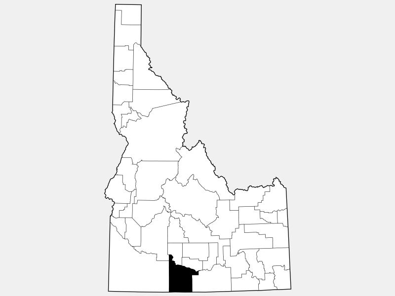 Twin Falls County locator map