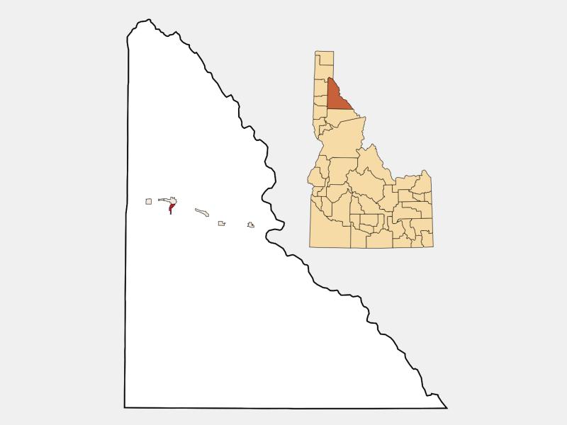 Wardner locator map