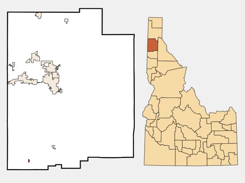 Worley locator map