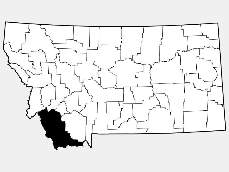 Beaverhead County locator map