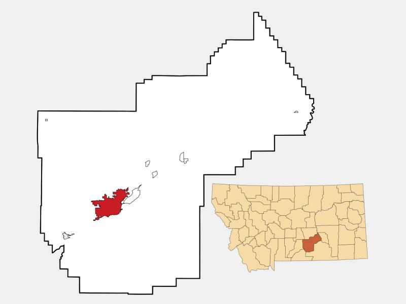 Billings locator map