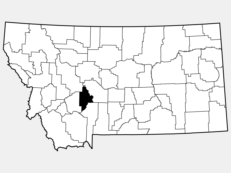 Broadwater County location map