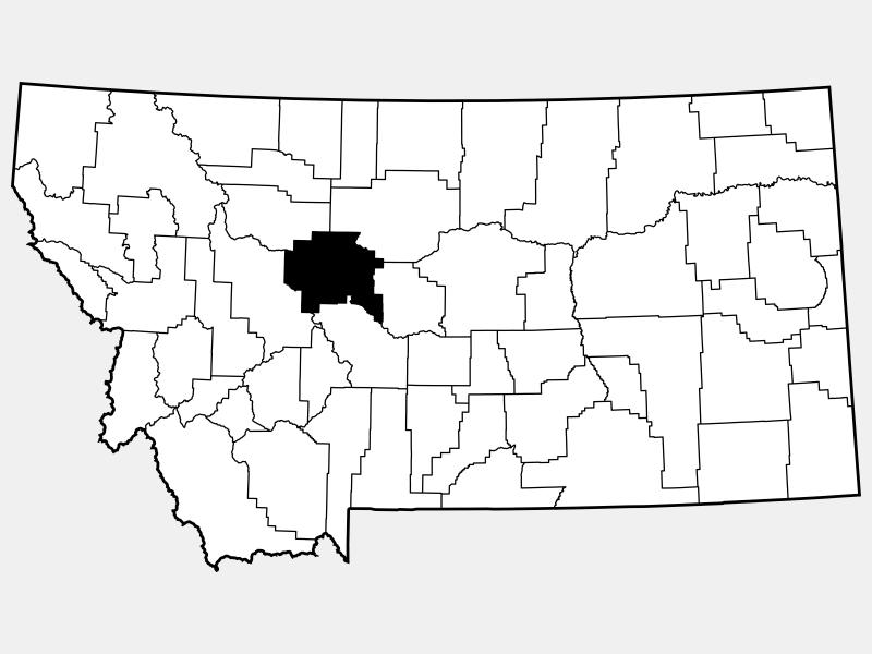 Cascade County locator map