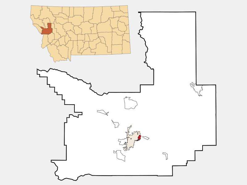East Missoula locator map