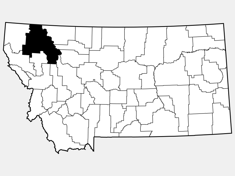 Flathead County locator map