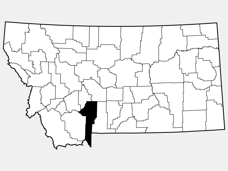 Gallatin County locator map