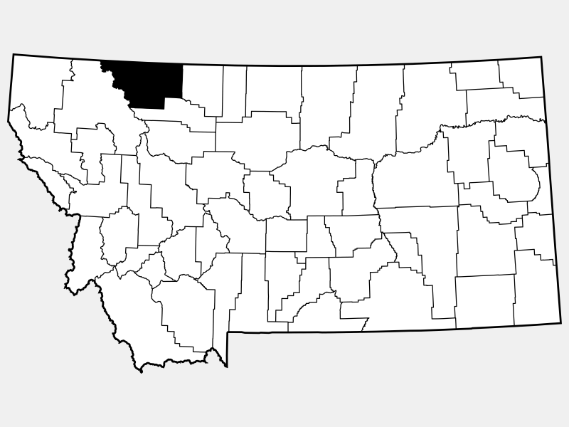 Glacier County locator map