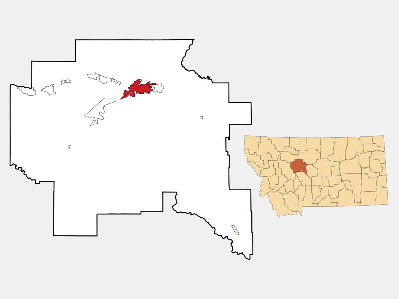 Great Falls locator map