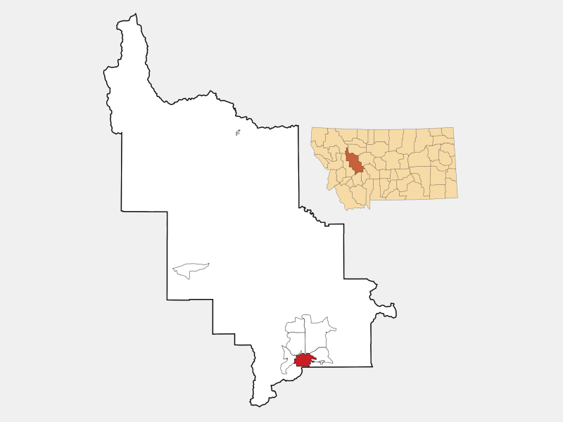 Helena locator map