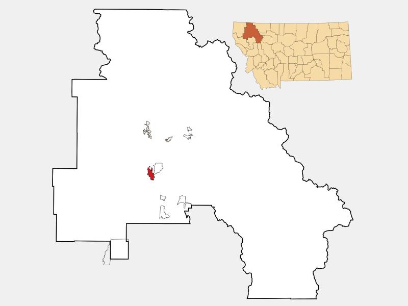 Kalispell locator map