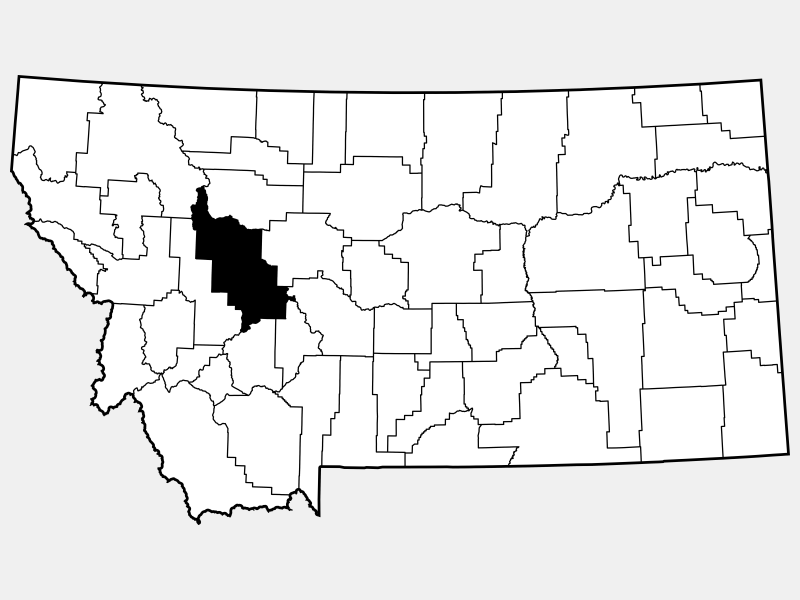 Lewis and Clark County locator map