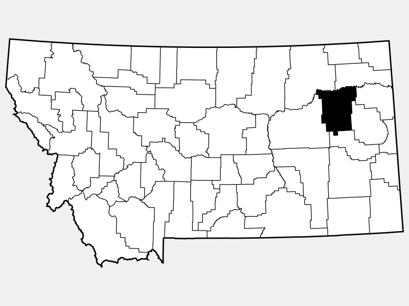 McCone County locator map