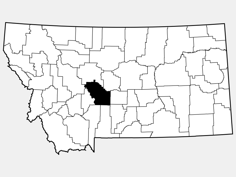 Meagher County locator map