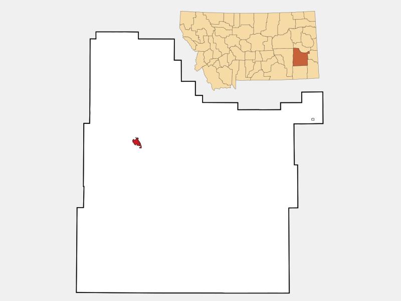 Miles City locator map