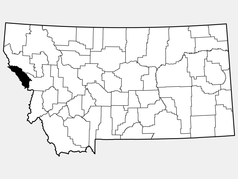 Mineral County locator map