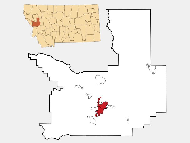 Missoula locator map