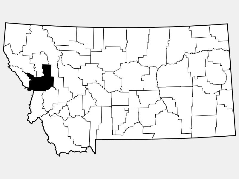 Missoula County locator map