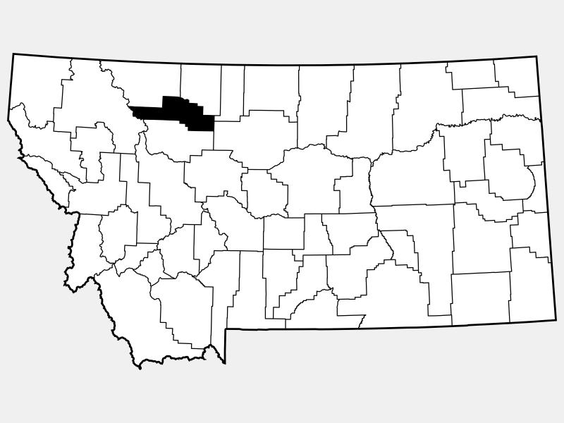 Pondera County location map