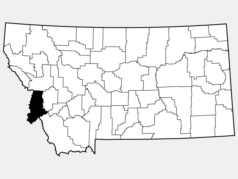 Ravalli County locator map
