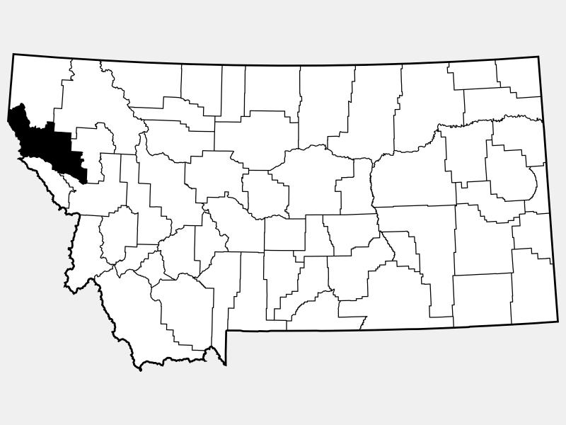 Sanders County locator map