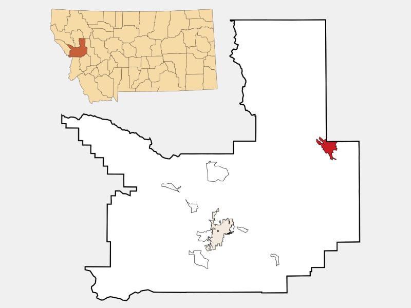 Seeley Lake locator map