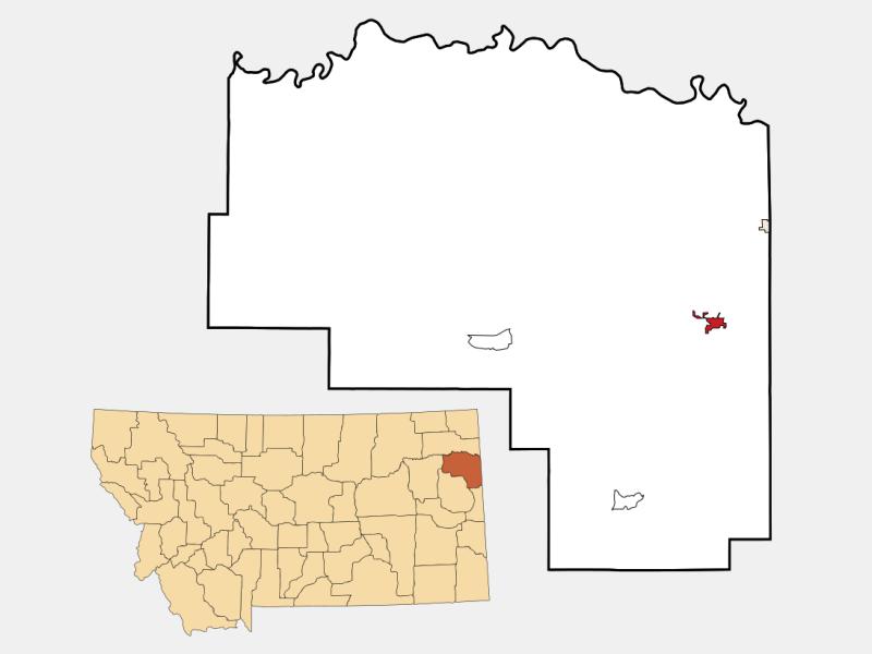 Sidney locator map