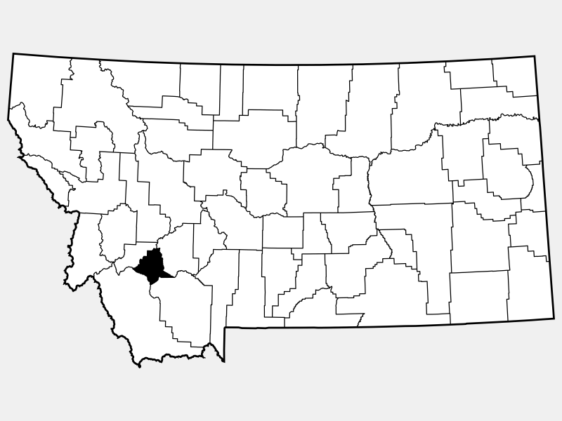 Silver Bow County locator map