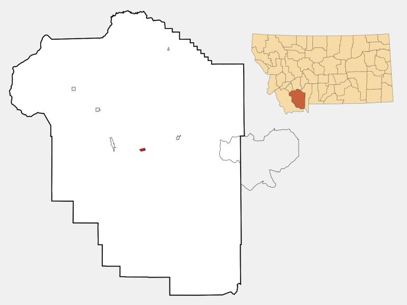 Virginia City locator map