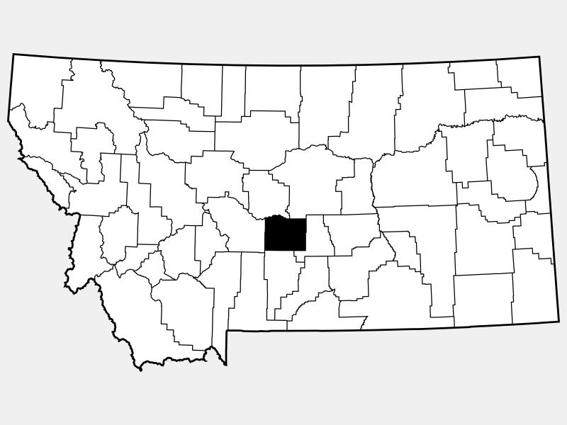 Wheatland County location map