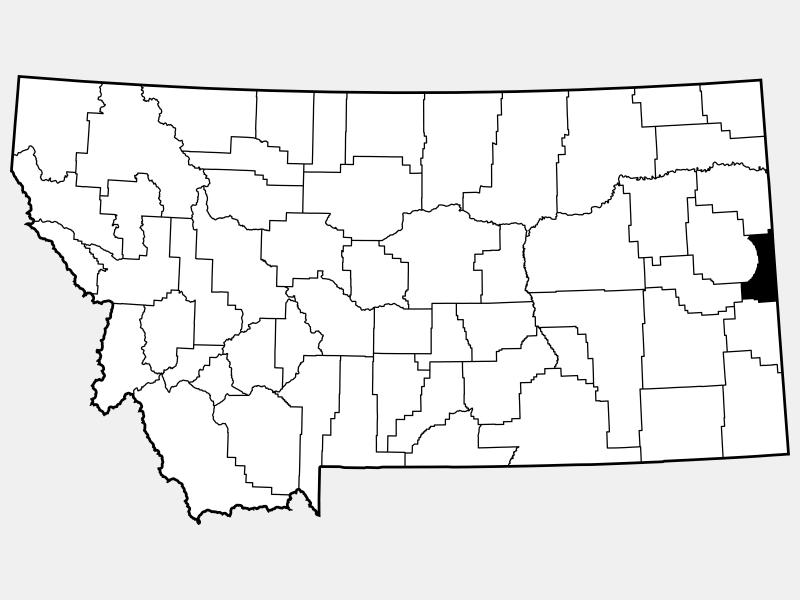 Wibaux County locator map