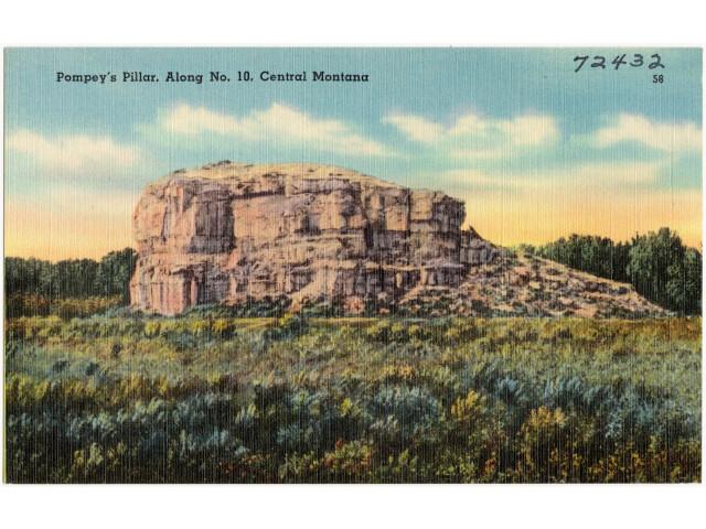Pompey%27s Pillar  along No. 10  Central Montana '72432' image