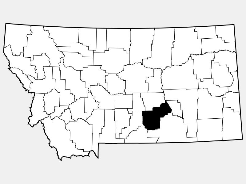 Yellowstone County locator map