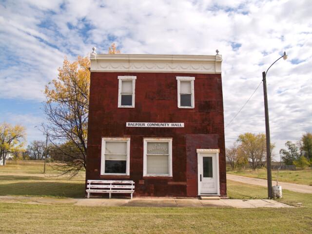 Balfour Community Hall and Post Office Balfour  North Dakota 10-16-2008 image