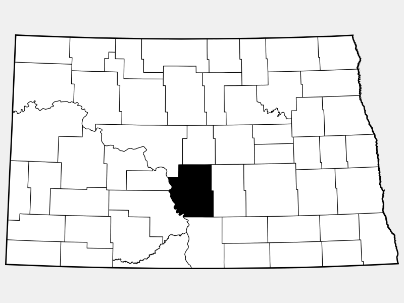 Burleigh County locator map
