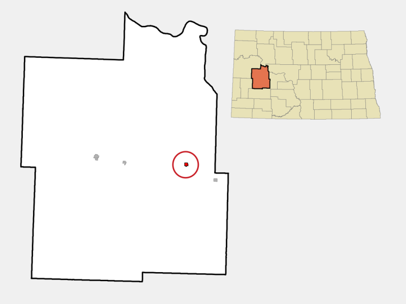 Halliday location map
