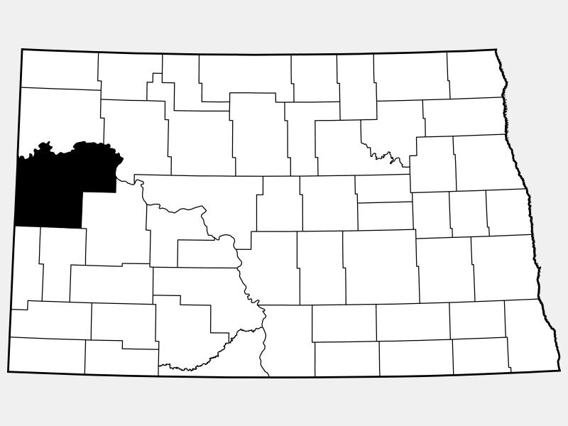 McKenzie County locator map