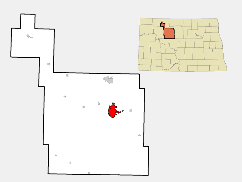 Minot locator map